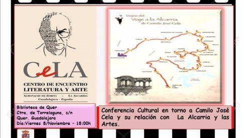 X Aniversario Biblioteca. Este viernes, conferencia en Quer sobre Cela y La Alcarria, y sobre el Centro CeLA de Almonacid de Zorita