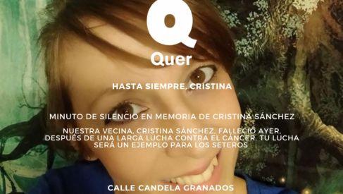 Minuto de silencio en memoria de Cristina Sánchez
