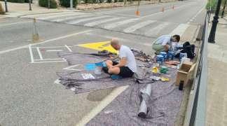 El Ayuntamiento incrementa la seguridad vial en los pasos de cebra de la calle Torrelaguna