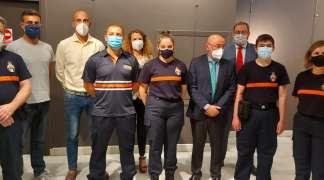 Los nuevos voluntarios de Protección Civil  de Quer reciben su diploma de curso básico