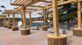 Concluyen las obras de instalación de las pérgolas de la Plaza Mayor