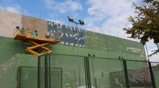En marcha obras de mejora en las pistas de pádel y frontón del Complejo La Dehesa