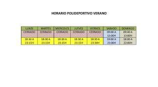 El 1 de octubre, entra en vigor el horario de invierno del Polideportivo La Dehesa