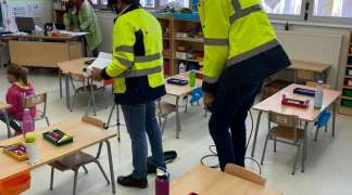 El Ayuntamiento ha medido niveles de CO² en los dos centros educativos seteros