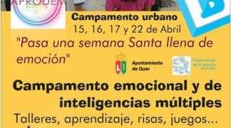 Abierto el plazo de inscripción en el Campamento Urbano de Semana Santa