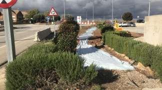 En marcha obras de pavimentación de aceras en la Avenida Torrelaguna