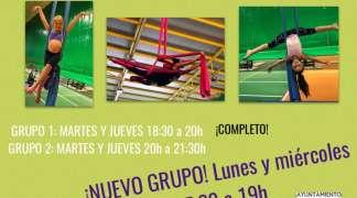 Telas aéreas (2) y yoga, se añaden a las disciplinas deportivas con grupo este año en Quer