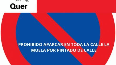 Viernes, 14 de mayo. Prohibido aparcar en la calle La Muela