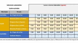 El 1 de agosto, entra en vigor el horario de verano del Plan Astra