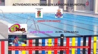 Este sábado, la piscina de Quer también abrirá por la noche